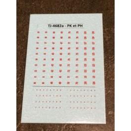 TJ-4682a - Décals Points kilométriques et hectométriques