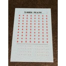 TJ-4682b - Décals Points kilométriques et hectométriquesb