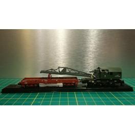 TJ-7602 - Set Grue Caillard 50t diesel + wagon d'accompagnement (kits)