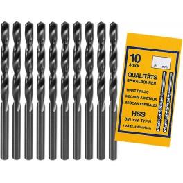 Lot de 10 forets HSS 0,8mm