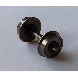 Essieu RP 25 avec roues pleines ø6.2 - axe 14.9mm