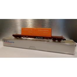 L.S.Models - 60021-1 : wagon transport de verre Smms / Uais, SNCF, époque IV