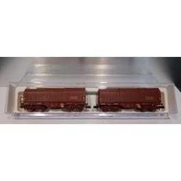 Fleischmann - 838815 - Set 2 wagons téléscopiques, SNCF, époque IV