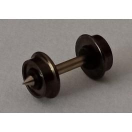 Essieu RP 25 avec roues pleines ø5.6 - axe 15.4mm