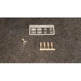 TJ-8504 - Tampons unifiés pour autorails, à plateaux larges