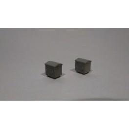 TJ-4651 - Caisses à piles acier galvanisé grand modèle
