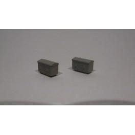 TJ-4652 - Caisses à piles acier galvanisé petit modèle