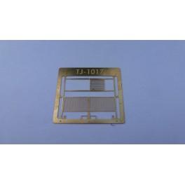 TJ-1017 - Portail battant 4m moderne et portillon