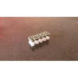 TJ-2032 - Bacs à fleurs ronds pour tallus (lot de 20 pièces)