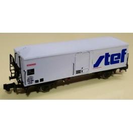TJ-7546 - Wagon couvert réfrigérant STEF à caisse polyester (transkit sur base Brawa)