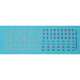 TJ-5210 - Chiffres de classe pour Autorails