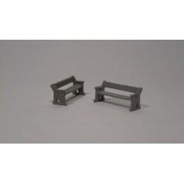 TJ-4556 - Banc de quai en bois (lot de 2)